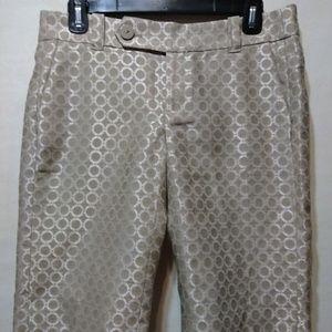 Anthropologie Cartonnier metallic shorts